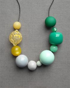 urban honey pioneers necklace  vintage lucite and by urbanlegend  HMMMMM, something to to try with all the vintage lucite beads I have hanging around?