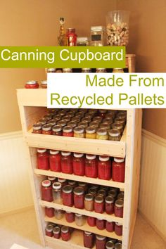 How-to build a canning cupboard using from pallets.