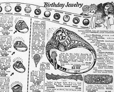 Loving this antique ring ad!