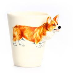 Welsh Corgi Mug Brown