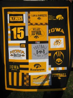 T-Shirt Quilt Memory Quilt sports high school by TheRetiredQuilt