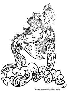 Pix For Coloring Pages Mermaids Printable