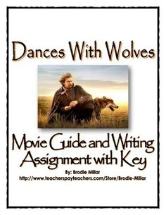 This 17 page movie guide for the movie Dances With Wolves contains a set of 26 questions related to the movie, a writing assignment and a detailed teachers key.  The questions in the movie guide focus on the scenes that relate to the the clash of civilizations between Native Americans and American Settlers, and to what extent to movie shows the realities of impacts of the Age of Imperialism in the Americas including the idea of Manifest Destiny.