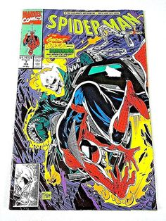 Spider-Man Volume 1 Number 7 1991 Ghost Rider Appearance Marvel Comics Book