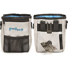 PupGym Dog Treat Pouch and Training Bag for Carrying Treats and Pet Toys with Poop Bag Dispenser, Reflective Shoulder Strap and Zippered Pockets - Includes 1 Roll of Waste Bags -- You can click on the image for additional details. (This is an affiliate link and I receive a commission for the sales)