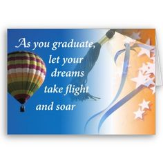 Graduation Dreams, Congratulation Card