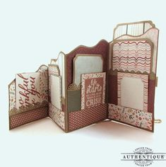 "Authentique Paper: An Autumn Wavy Zig Zag Album with ""Grateful"" & Kiwi Lane Diy Mini Album, Mini Albums Scrap, Mini Album Tutorial, Mini Scrapbook Albums, Scrapbooking Technique, Pocket Scrapbooking, Handmade Books, Handmade Journals, Handmade Rugs"