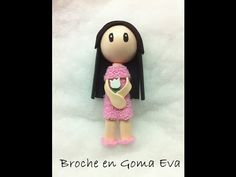 Creando un broche en gomaeva - foamy (tutorial) - YouTube