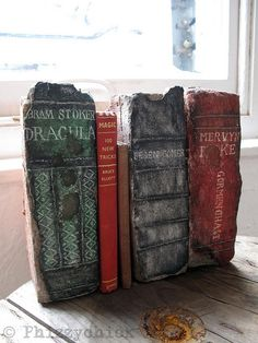 Painted Brick Books by Phizzychick