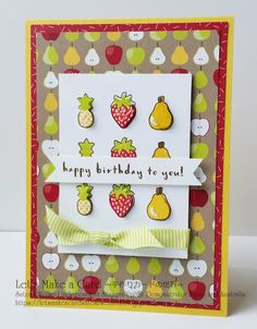 Occasion Catalogue Sneak Peek Fruit Basket Satomi Wellard-Independent Stampin'Up! Demonstrator in Japan and Australia, #su, #stampinup, #cardmaking, #papercrafting, #rubberstamping, #stampinuponlineorder, #craftonlinestore, #papercrafting, #handmadegreetingcard, #greetingcards #2018occassionscatalog, #birthdaycard, #fruitbasket #strawberries #pears #pinapples #スタンピン #スタンピンアップ #スタンピンアップ公認デモンストレーター #ウェラード里美 #手作りカード #スタンプ #カードメーキング #ペーパークラフト #スクラップブッキング #ハンドメイド #オンラインクラス #スタンピンアップオンラインオーダー #スタン