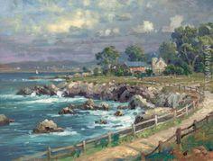 Thomas Kinkade: Seaside Village -I normally do not like kinkades paintings...but I like this.