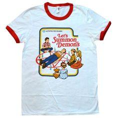 'Let's Summon Demons' Ringer Shirt