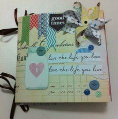 Mini álbum - Live the life you love #scrapbook # scrapalbum #minialbum #mini #americancrafts # scrapgoodies