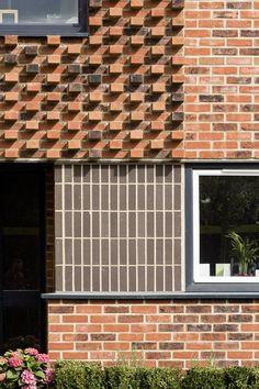Horsted Park Villa Design, Facade Design, Brick Building, Building Exterior, Brick Architecture, Architecture Details, Brick Porch, Facade Pattern, Brick Detail