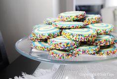 Salt Tree swirled sugar cookies