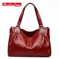 52.20$  Buy here - http://aliyod.shopchina.info/1/go.php?t=32817487042 - Guaranteed 100% Natural Genuine Leather Women Handbag   First Layer Of Cowhide Tote Fashion Women Messenger   Bags   #bestbuy