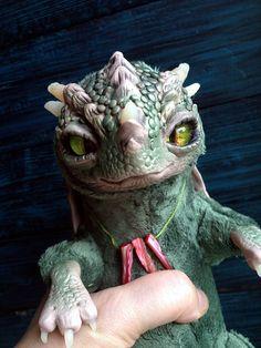 FANTASY CREATURE Little Fireborn Dragon Ooak Fantasy Creature