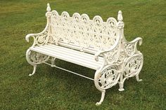 Buy online, view images and see past prices for Large cast iron Coalbrokedale back to back garden bench. Invaluable is the world's largest marketplace for art, antiques, and collectibles. Patio Seating, Vintage Farm, Farm Gardens, Outdoor Furniture, Outdoor Decor, Cast Iron, Porch, June, Antiques