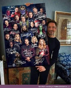 Im sorry but why is starlord front and center? Avengers Endgame Marvel Comics Superheroes Signatures Portrait Poster No Frame Captain Marvel, Marvel Avengers, Hero Marvel, Marvel Comics Superheroes, Captain America, Thanos Marvel, Funny Marvel Memes, Marvel Jokes, Marvel Actors