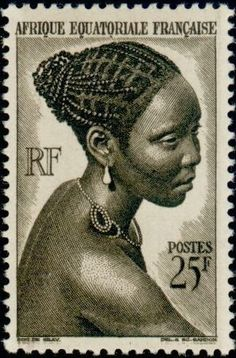 Stamp: Jeune fille Bacongo-BacongoGirl (French Colonies and Territories) (Equatorial Africa) Yt:FR-EQ 184 Rare Stamps, Vintage Stamps, Old Stamps, Equatorial Africa, Postage Stamp Art, Arte Popular, African History, Stamp Collecting, Mail Art