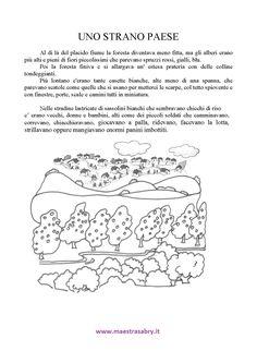 Testi descrittivi Teacher, Writing, Learning, School, Alphabet, Kids Education, Italy