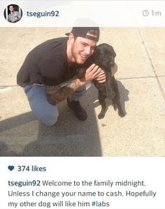 In Tyler Seguin of the Dallas Stars puppy news. Looks like he has a new chocolate lab.