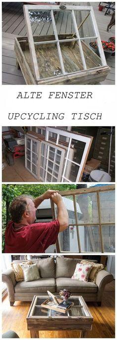DIY Upcycling Tisch aus altem Fenster