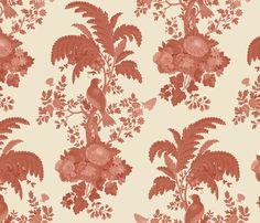 Parrot Forest Toile fabric by muhlenkott on Spoonflower - custom fabric