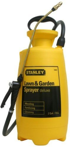 Stanley Lawn and Garden Deluxe Poly 2-Gallon Sprayer 72020 by Stanley. $33.99. Poly w/ Lock-on extension. Anti-Clog Filter. 2 Gallon Lawn & Garden Poly. Adjustable Brass Nozzle. Reinforced hose. From the Manufacturer                Stanley by Chapin Lawn and Garden Deluxe Poly 2 Gallon Sprayer.  For any lawn and garden project, the Stanley Lawn & Garden Series covers the full gamut.  From the patio gardener to the weekend warrior to the professional.