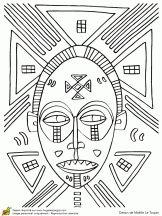 site de coloriage par theme (ici masques africains)