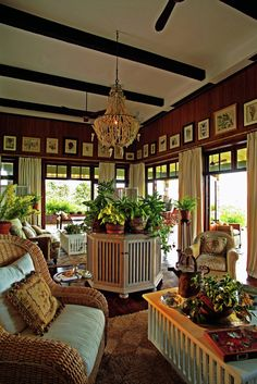 One of the lodge's gorgeous sitting areas