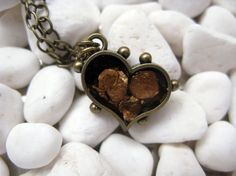 Small Gold Mica Heart Pendant Charm Ice by MaggieMarieCreations, $22.00