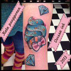 https://www.facebook.com/VorssaInk, http://tattoosbykata.blogspot.fi, #tattoo #tatuointi #katapuupponen #vorssaink #forssa #finland #traditionaltattoo #cupcake #diamond #cute #oldschool