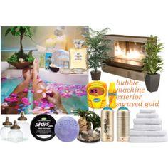 bath Bubble Machine, Bubbles, Exterior, Bath, Polyvore, Bathing, Outdoor Rooms, Bathroom, Bathtub