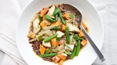 Thai-Flavored Green Curry with Sweet Potato, Green Beans, and Chicken Recipe | Bon Appetit