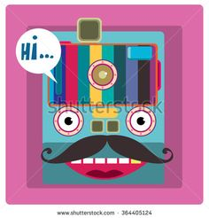 vector colorful funny mask face illustration