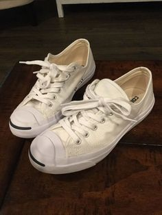 23658642cf6b Jack Purcell Converse Sneakers White Canvas Men s 6.5 Women s 8  fashion   clothing  shoes  accessories  unisexclothingshoesaccs  unisexadultshoes   ad (ebay ...
