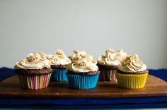 the kosher spoon : moist dark chocolate cupcakes with peanut butter frosting & sea salt