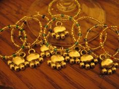 Puppy Dog Paw Wine Glass Charms by annettesexpressions on Etsy, $10.00