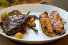 Fried vegetables with steak