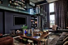 Lieblich Wohnzimmer In Dunklen Farben Gestalten   Penthouse Wohnung In Brasilien