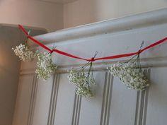 Gypsophila Christmas garland | Growing Spaces