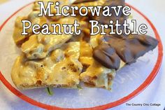Microwave Peanut Brittle plus over 50 Holiday Treat Recipes - * THE COUNTRY CHIC COTTAGE (DIY, Home Decor, Crafts, Farmhouse)