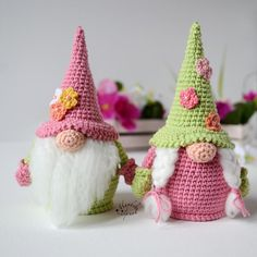 The crochet pattern includes a list of necessary materials and tools. The pattern is 15 pages long and has 42 pictures to help you. Crochet Fairy, Cute Crochet, Crochet Dolls, Easter Crochet Patterns, Amigurumi Patterns, Scandinavian Gnomes, Holiday Crochet, Crochet Basics, Crochet Stitches