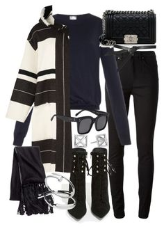"""Untitled #18832"" by florencia95 ❤ liked on Polyvore featuring moda, Acne Studios, Raey, Jeffrey Campbell, Chanel, Isabel Marant, H&M, Topshop, Monica Vinader e Cartier"