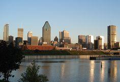 View of Montreal from park La Cité du Havre Of Montreal, Le Havre, New York Skyline, Photos, Travel, Park, Pictures, Viajes, Destinations