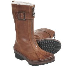 Sorel Earhart Mid Winter Boots - Waterproof, Leather (For Women) in Sudan Brown/Bison