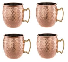 Moscow Mule Hand Hammered Copper Mug - 18 oz - Set of 4 with FREE BONUS Cocktail Recipes >>> To view further for this item, visit the image link.