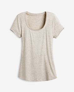 "Set a casual-cool foundation on your layered looks with this short sleeve tee with a buttery soft feel that hits perfectly at the hip.    Short sleeve layering tee.    Rayon/spandex. Machine wash, cold.   Approx. 25.5"" from shoulder.   Imported."