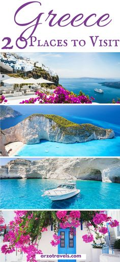 The most beautiful places to see in Greece. Find out which places to visit and w… The most beautiful places to see in Greece. Find out which places to visit and what to do in Greece. Where to go in Greece I Best islands in Greece I Beautiful Places To Visit, Beautiful Beaches, Cool Places To Visit, Beautiful Islands, Beautiful Beautiful, Best Places To Travel, Greek Islands To Visit, Greece Islands, Travel Photos